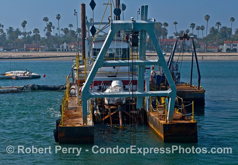 "Image 1 of 2:  Santa Barbara sand removal dredge barge ""La Encina."""