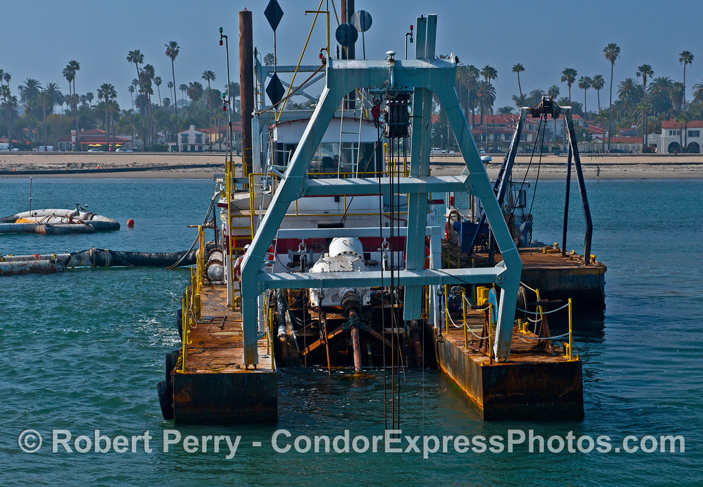 "Image 1 of 2:  Santa Barbara sand removal dredge barge ""La Encina."""