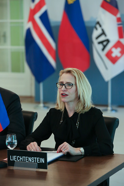 Ms Aurelia Frick, Minister of Foreign Affairs, Liechtenstein