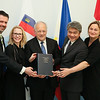 From left: Mr Martin Eyjólfsson, Ambassador, Iceland; Ms Aurelia Frick, Minister of Foreign Affairs, Liechtenstein; Mr Johann N. Schneider-Ammann, President of Switzerland and Head of the Federal Department of Economic Affairs, Education and Research of Switzerland; Mr Adrian S. Cristobal Jr., Secretary of the Department of Trade and Industry of the Philippines; and Ms Dilek Ayhan, State Secretary, Ministry of Trade and Industry, Norway