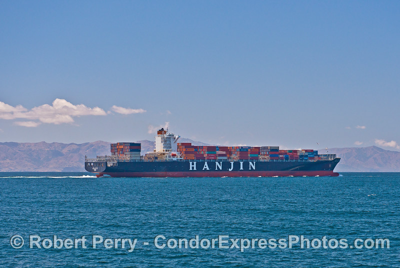 Hanjin Seattle - container cargo bound for Oakland, CA.