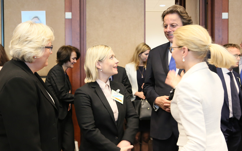 From left: Ms Elisabeth Aspaker, Minister of EEA and EU Affairs of Norway;  Ms Lilja Dögg Alfreðsdóttir, Minister for Foreign Affairs of Iceland; Mr Bert Koenders, Minister of Foreign Affairs of the Netherlands; and Ms Aurelia Frick, Minister of Foreign Affairs of Liechtenstein