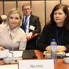 From left:  Ms Lilja Dögg Alfreðsdóttir, Minister for Foreign Affairs of Iceland and Ambassador Bergdis Ellertsdottir