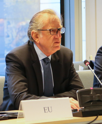 Mr Claude Maerten, Head of Division, European External Action Service (EEAS), chairing the meeting of the EEA Joint Committee