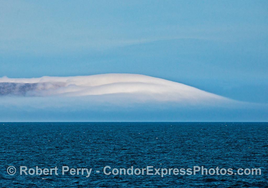 Fog shrouds the West End of Santa Cruz Island.