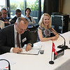 From left: Mr Didier Chambovey, Ambassador, Switzerland; Ms Aurelia Frick, Minister of Foreign Affairs, Liechtenstein