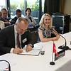 From left: Mr Didier Chambovey, Ambassador, Switzerland; Ms Aurelia Frick, Minister of Foreign Affairs, Liechtenstein