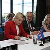 From left: Ms Lilja Alfreðsdóttir, Minister for Foreign Affairs and External Trade, Iceland; Mr Didier Chambovey, Ambassador, Switzerland; Ms Aurelia Frick, Minister of Foreign Affairs, Liechtenstein