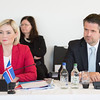 From left: Ms Lilja Alfreðsdóttir, Minister for Foreign Affairs and External Trade, Iceland; Mr Martin Eyjólfsson, Ambassador, Iceland