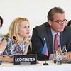 From left: Ms Aurelia Frick, Minister of Foreign Affairs, Liechtenstein; Mr Peter Matt, Ambassador, Liechtenstein