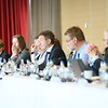 Members of EFTA Parliamentary Committee, chaired by Mr Gudlaugur Thor Thordarson (centred), meet the EFTA Ministers.