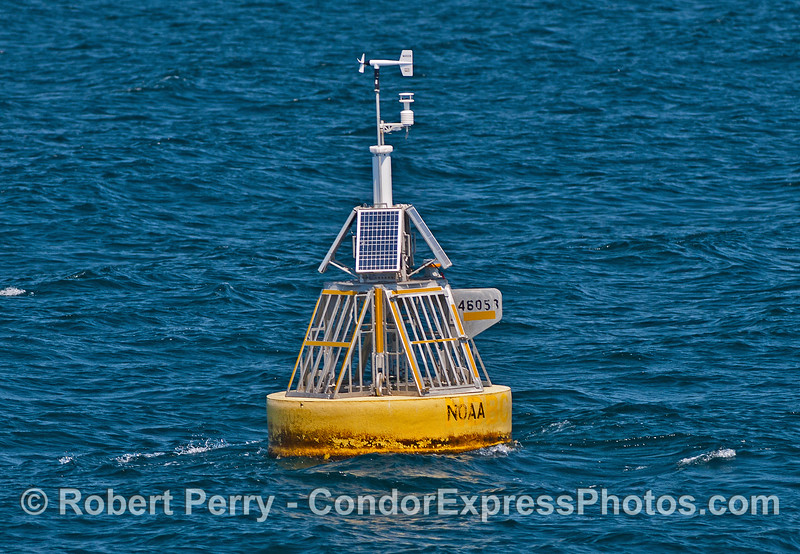 """Google """"Buoy 46053"""" to see updated weather and sea conditions 24/7/365."""