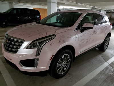 2016-08-10 - Wrapped Pink Cadillac with Signatures