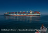 "Container cargo ship ""Cosco Asia"" on its way to Seattle."