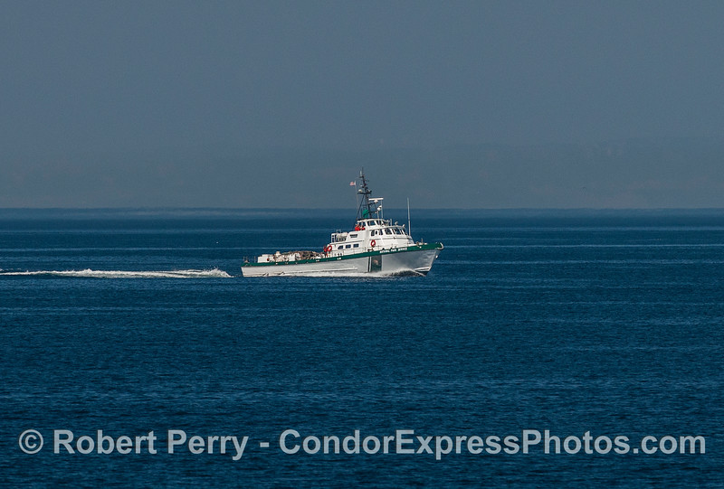 "Heading home.  The Channel Islands National Park Service vessel ""Sea Ranger."""
