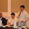 """Senate President Aquilino """"Koko"""" Pimentel III (standing), senator <br /> Juan Miguel """"Migz"""" F. Zubiri and senator Joseph Victor G Ejercito, in the Philippine Senate."""