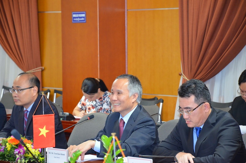 Vietnamese Deputy Minister of Industry and Trade, Mr Tran Quoc Khanh.