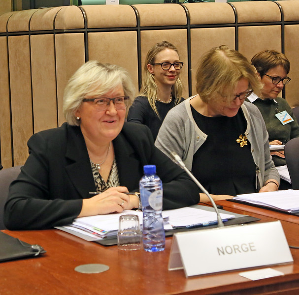 From left: Ms Elisabeth Aspaker, Minister of EEA and EU Affairs, Norway; Ms. Oda Sletnes, Ambassador, Norway