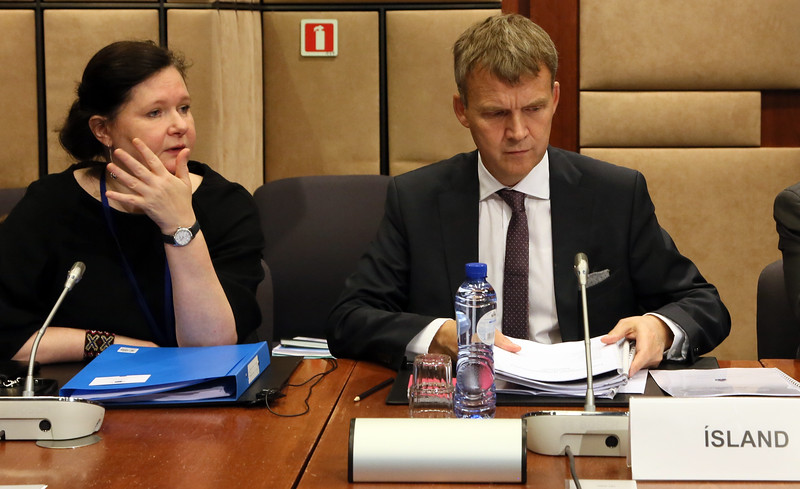 From left: Ms Bergdís Ellertsdóttir, Ambassador, Iceland; Mr Stefán Haukur Jóhannesson, Permanent Secretary of State, Ministry for Foreign Affairs, Iceland.