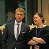 From left: Mr Stefán Haukur Jóhannesson, Permanent Secretary of State, Ministry for Foreign Affairs, Iceland; Ms Bergdís Ellertsdóttir, Ambassador, Iceland.
