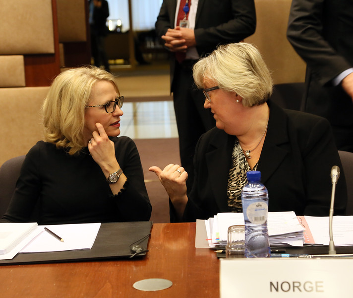 From left: Ms Aurelia Frick, Minister of Foreign Affairs, Liechtenstein; Ms Elisabeth Aspaker, Minister of EEA and EU Affairs, Norway.