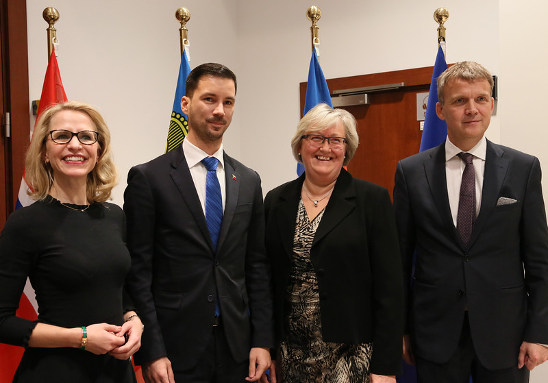 From left: Ms Aurelia Frick, Minister of Foreign Affairs, Liechtenstein; Mr. Lukas Parizek, Secretary of State of the Ministry of Foreign and European Affairs, Slovak Republic; Ms Elisabeth Aspaker, Minister of EEA and EU Affairs, Norway; Mr Stefán Haukur Jóhannesson, Permanent Secretary of State, Ministry for Foreign Affairs, Iceland.