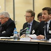 MP Vilhjálmur Bjarnason, Stígur Stefánsson, MP Guðlaugur Þór Þórðarson, Chair of the Parliamentary Committee, at the joint meeting with EFTA Ministers.