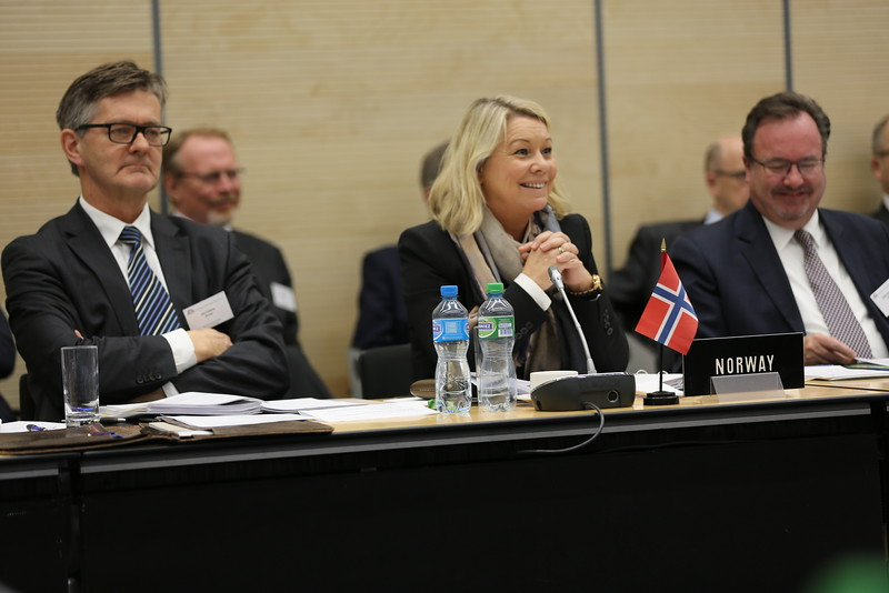 Mr Jan Farberg, Director General, Ministry of Trade, Industry and Fisheries, Norway;  Ms Monica Mæland, Minister of Trade and Industry, Norway; Martin Zbinden, Deputy-Secretary General EFTA Secretariat.