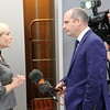 From left: Ms Lilja Alfreðsdóttir, Minister for Foreign Affairs and External Trade, Iceland; Mr Glenn Campbell, BBC
