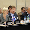 From separate meeting with EFTA Parliamentary Committee.<br /> <br /> From left: Ms Lilja Alfreðsdóttir, Minister for Foreign Affairs and External Trade, Iceland;  Mr Högni Kristjánsson, Ambassador, Permanent Representative, Permanent Mission of Iceland, Geneva; Mr Johann N. Schneider-Ammann, President of Switzerland and Head of the Federal Department of Economic Affairs, Education and Research of Switzerland.