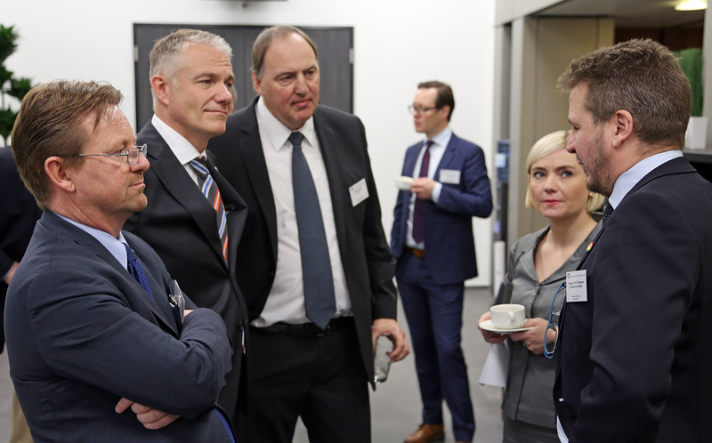 From left: Mr Högni Kristjánsson, Ambassador, Permanent Representative, Permanent Mission of Iceland, Geneva; Mr Aðalsteinn Leifsson, Director, Secretary-General's Office, EFTA; Mr Kristinn Árnason, Secretary-General, EFTA; Ms Lilja Alfreðsdóttir, Minister for Foreign Affairs and External Trade, Iceland;  Mr Guðlaugur Þór Þórðarson, EFTA Parliamentary Committee