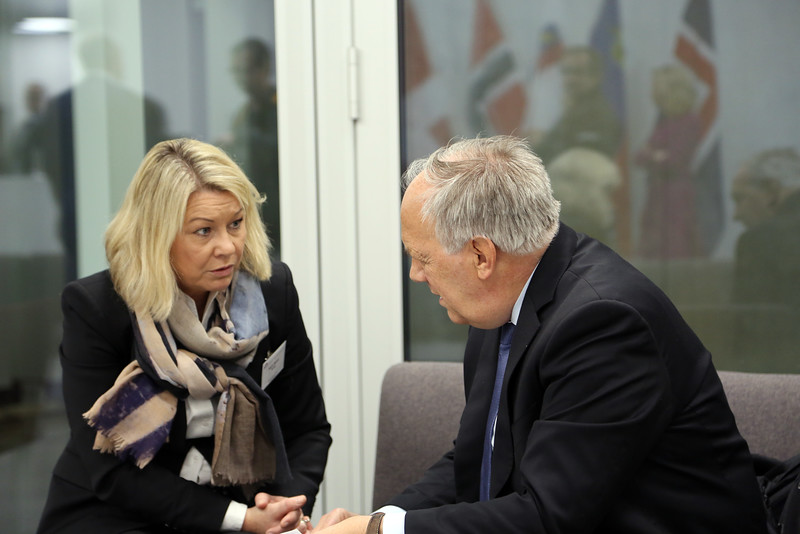 From left: Ms Monica Mæland, Minister of Trade and Industry, Norway; Mr Johann N. Schneider-Ammann, President of Switzerland and Head of the Federal Department of Economic Affairs, Education and Research of Switzerland.
