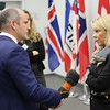 From left: Mr Glenn Campbell, BBC; Ms Monica Mæland, Minister of Trade and Industry, Norway