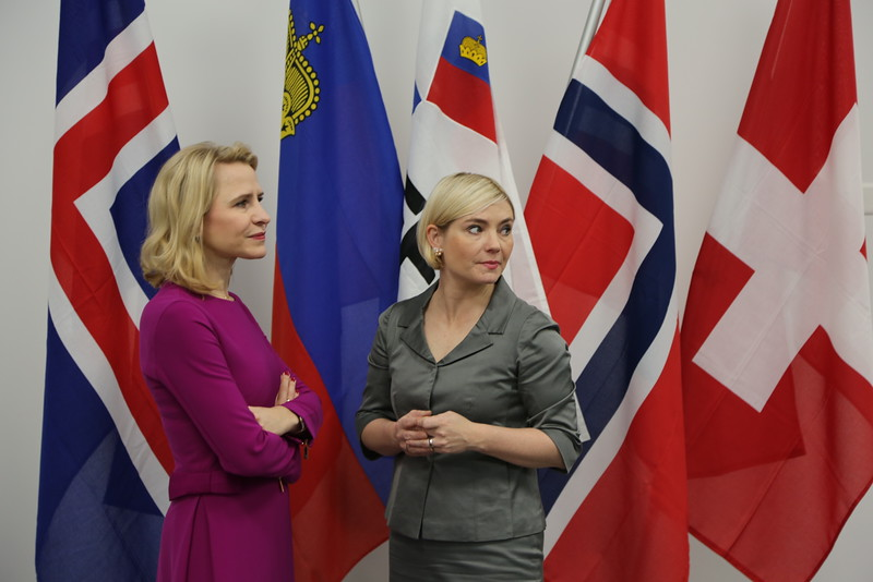 From left: Ms Aurelia Frick, Minister of Foreign Affairs, Liechtenstein; Ms Lilja Alfreðsdóttir, Minister for Foreign Affairs and External Trade, Iceland.
