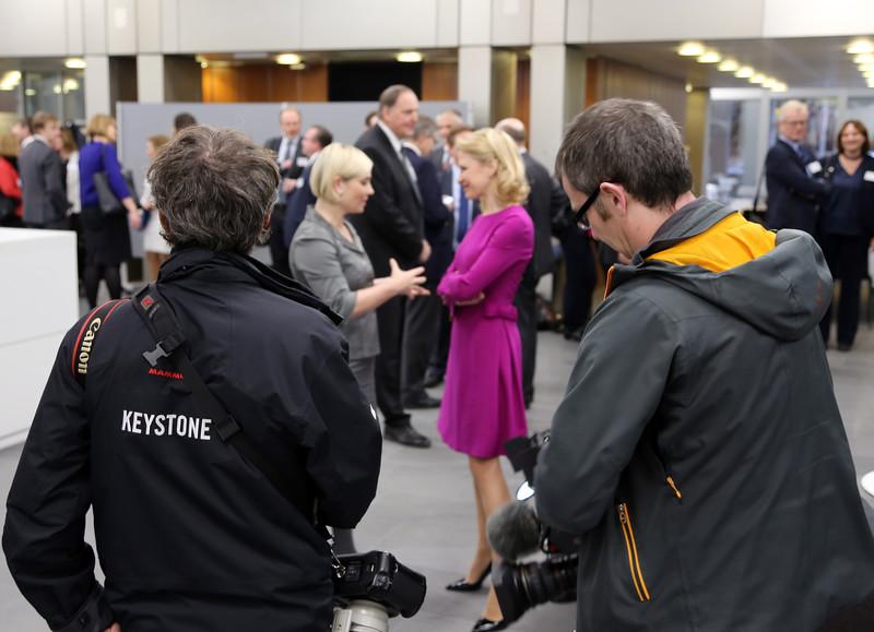 From left: Ms Lilja Alfreðsdóttir, Minister for Foreign Affairs and External Trade, Iceland; Ms Aurelia Frick, Minister of Foreign Affairs, Liechtenstein.