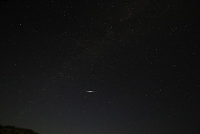 Milky Way & Satellite Flare