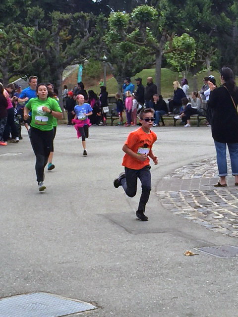"""""""Mud boys"""" 5km run at the Park... Lucas finished 1st (26min)"""