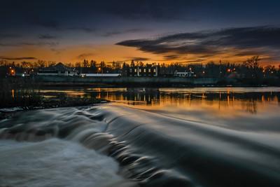 DA094,DP,Cambridge Mill sunset