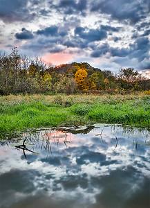 DA022,DN,Mines of Spain wetland sunset2