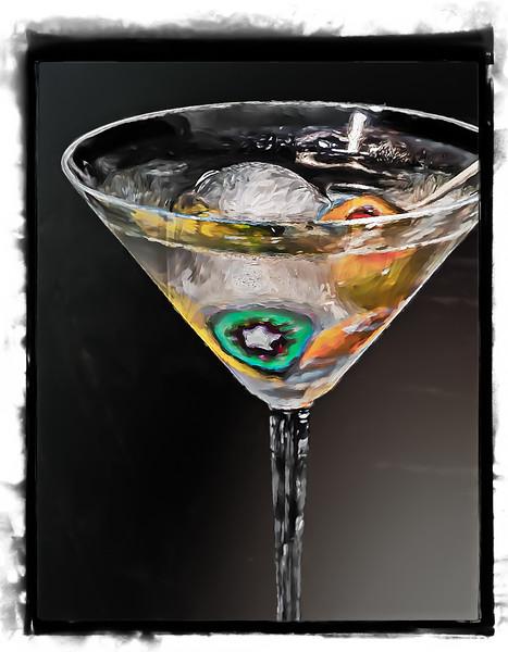 Martini in Art Glass