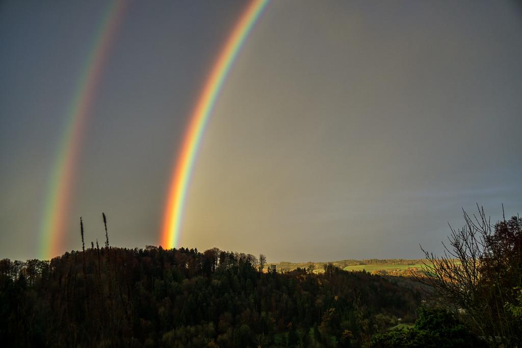Regenbogen am Morgen, 18.11.2016