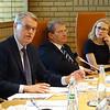 From left: Mr Sven Erik Svedman, President, EFTA Surveillance Authority, Mr Kurt Jaeger, Ambassador, Liechtenstein;  Ms Aurelia Frick, Minister of Foreign Affairs, Liechtenstein.
