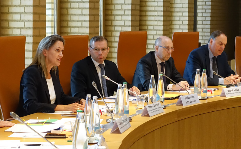 From left: Ms Anne E. Luwema, Ambassador of the Kingdom of the Netherlands to Switzerland and Liechtenstein; Mr Norbert Lins, MEP, EPP Germany, Mr Dag W. Holter, Deputy Secretary-General, EFTA; Mr Kristinn F. Árnason, Secretary-General, EFTA.