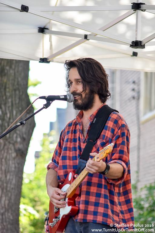 David Celia @ Roncy Rocks (Wright Avenue stage), Toronto, ON,  11-June 2016