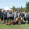 Prince George Cougars alumni pose for a group photo prior to teeing off in the 5th Annual Prince George Cougars Alumni/Hospital Charity Golf Tournament on Saturday at Prince George Golf and Curling Club. The event has helped raise over $230,000 in the past four years for the Spirit of the North Healthcare Foundation. Citizen Photo by James Doyle     July 16, 2016