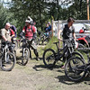 Mountain bikers wait in line for the chairlift at Tabor Mountain on Saturday for the opening day of the bike park. Citizen Photo by James Doyle      July 16, 2016