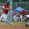 Aaron Dunsmore of Canadian Sidearm Nation takes a swing at a pitch from Watanabe Keita of Team Japan on Friday at Citizen Field. Team Japan took on Sidearm Nation as part of the World Baseball Challenge. Citizen Photo by James Doyle       August 19, 2016