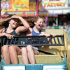 Melinda Kobasiuk, 12, and Gracie Kobasiuk ride on the Zizler at the Westcoast Amusments midway at the BCNE on Friday. Citizen photo by Brent Braaten   Aug 19 2016