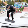 Justin Welygan, a professional skateboarder for local skateboard company CBA, performs during a demonstration at the official opening of the skate park at Cpl. Darren Fitzpatrick Bravery Park on Saturday. Citizen Photo by James Doyle      September 24, 2016