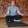 Rob Richards practices yoga on Friday at Chinook Yoga. Richards, is a victim of violence and uses yoga as a big part of his healing. Citizen Photo by James Doyle      Ocotober 7, 2016